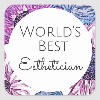 World's Best Esthetician gift 5 Square Sticker