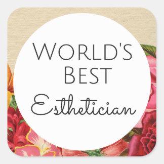 World's Best Esthetician gift Square Sticker
