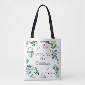 World's Best Esthetician gift tote bag