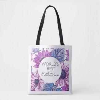 World's Best Esthetician gift tote bag 2