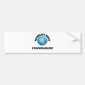 World's Best Ethnologist Car Bumper Sticker