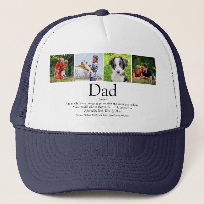 World's Best Ever Dad Father Definition Photo Fun Trucker Hat
