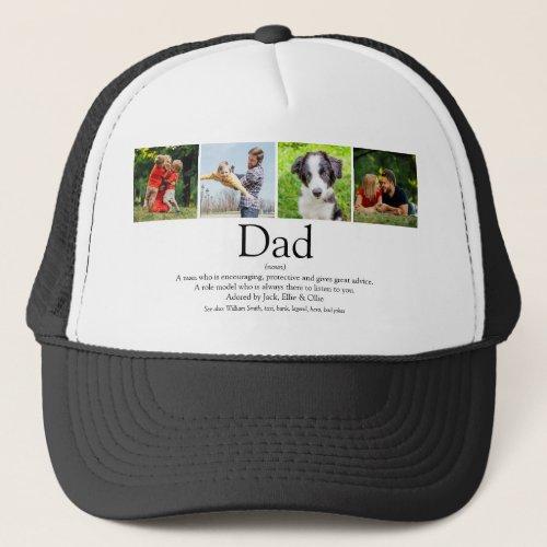 Worlds Best Ever Dad Father Definition Photo Fun Trucker Hat