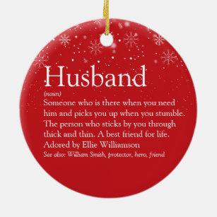 World Best Husband Christmas Ornaments Zazzle 100 Satisfaction Guaranteed