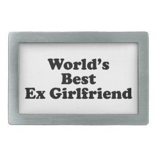 World's Best Ex Girlfriend Rectangular Belt Buckle