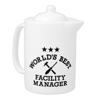 World's best Facility Manager Teapot