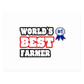 World's Best Farmer Postcard