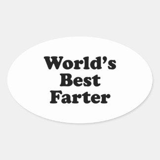 World's Best Farter Oval Sticker
