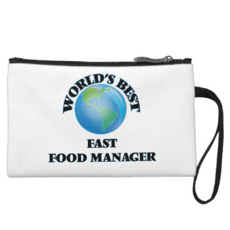 World's Best Fast Food Manager Wristlet Clutch