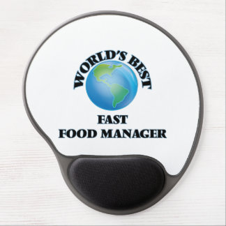 World's Best Fast Food Manager Gel Mouse Pads
