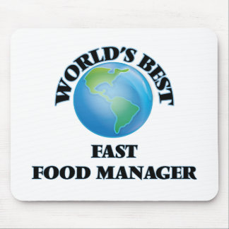 World's Best Fast Food Manager Mouse Pad