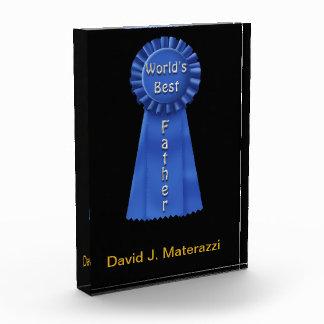 World's Best Father Blue Ribbon Award