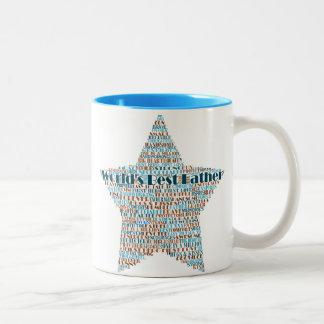 World's Best Father Heart Word Art Coffee Mugs Mug