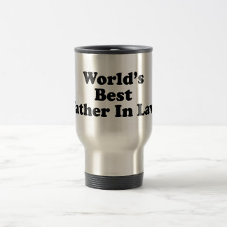 World's Best Father In Law 15 Oz Stainless Steel Travel Mug