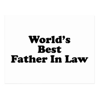 World's Best Father In Law Postcard