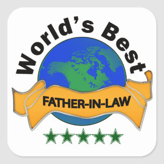 World's Best Father-In-Law Square Sticker