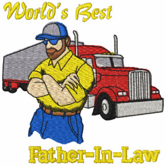 World's Best Father-in-law Truck Embroidered Shirt