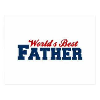 Worlds Best Father Postcard