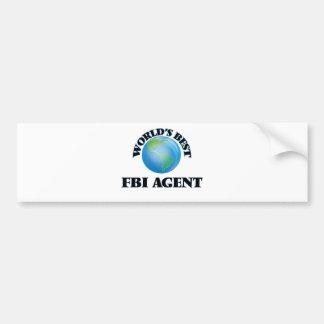 World's Best Fbi Agent Car Bumper Sticker