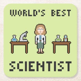 World's Best Female Scientist Square Paper Coaster