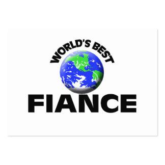 World's Best Fiance Business Card Template