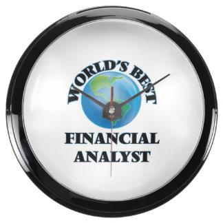 World's Best Financial Analyst Aquavista Clock
