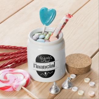 World's Best Financial Analyst Candy Jar