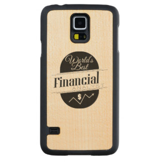 World's Best Financial Analyst Carved Maple Galaxy S5 Slim Case