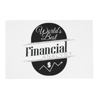World's Best Financial Analyst Placemat