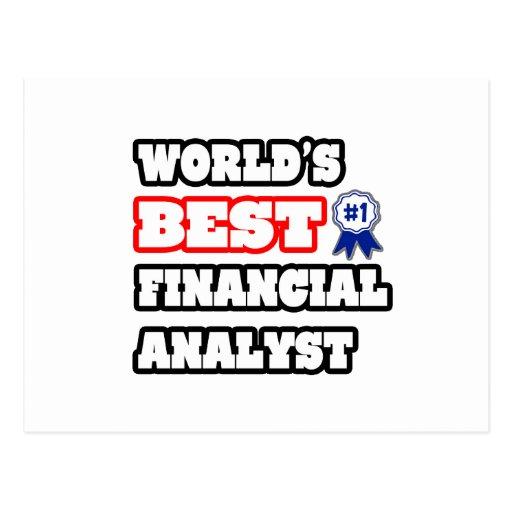 World's Best Financial Analyst Postcard