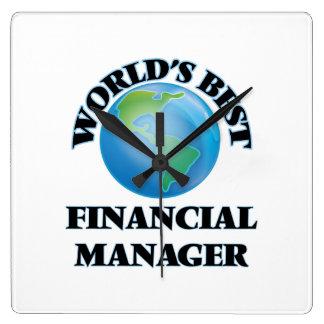 World's Best Financial Manager Wall Clocks