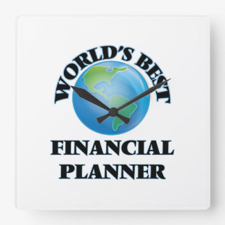 World's Best Financial Planner Square Wall Clock
