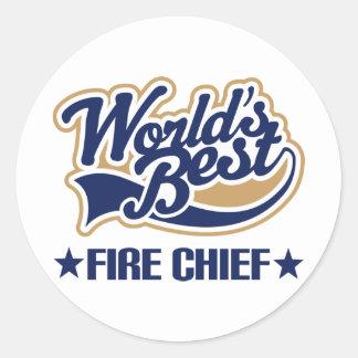 Worlds Best Fire Chief Classic Round Sticker