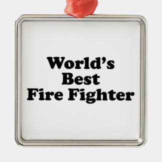 World's Best Fire Fighter Christmas Ornaments