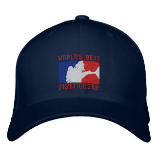World's Best Firefighter Custom Embroidery Embroidered Baseball Hat