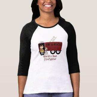 World's Best Firefighter Woman Tshirt