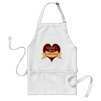 World's Best Fisher Woman Adult Apron