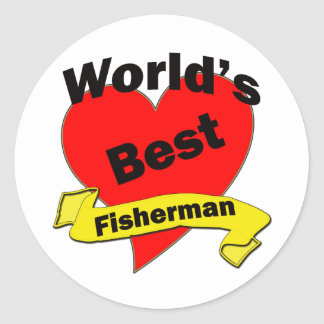 World's Best Fisherman Classic Round Sticker