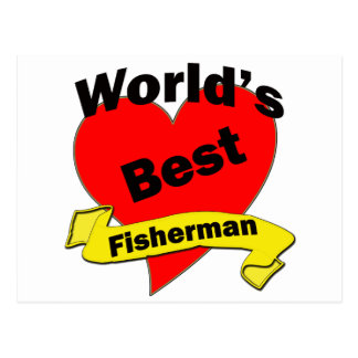 World's Best Fisherman Postcard