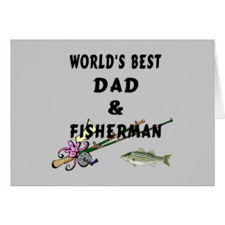Worlds Best Fishing Dad Card