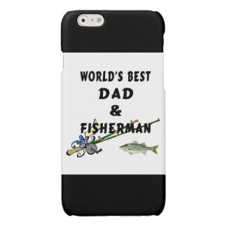 Worlds Best Fishing Dad Glossy iPhone 6 Case