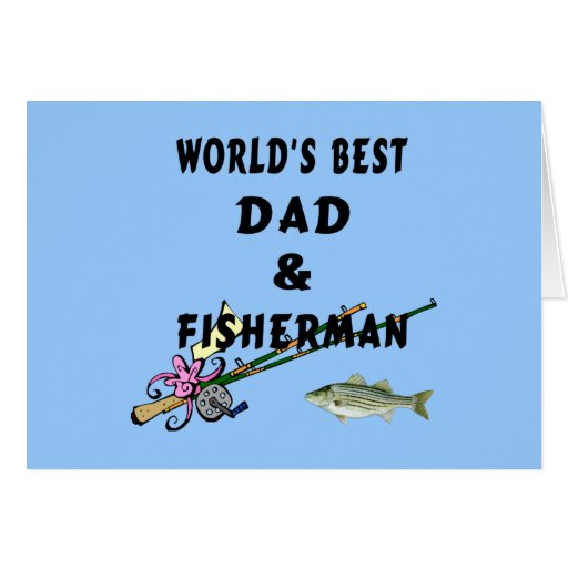 Worlds Best Fishing Dad Greeting Card
