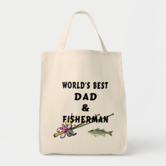 Worlds Best Fishing Dad Tote Bag