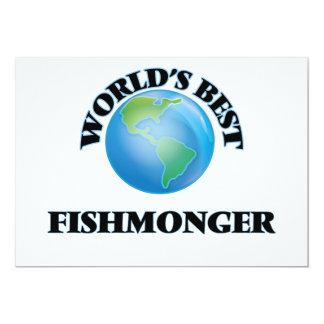 World's Best Fishmonger 5x7 Paper Invitation Card