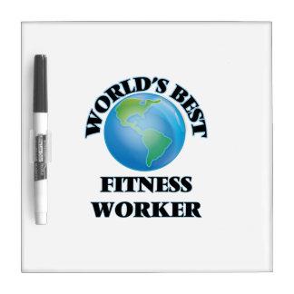 World's Best Fitness Worker Dry-Erase Board
