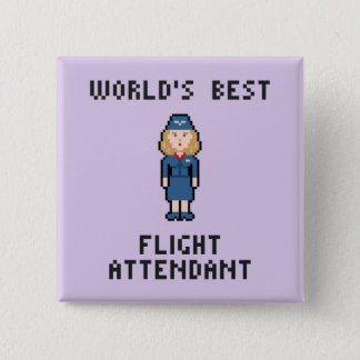 World's Best Flight Attendant Button