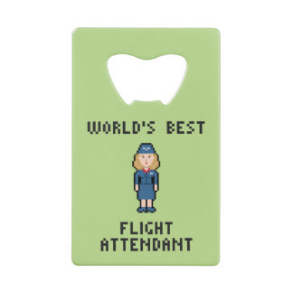 World's Best Flight Attendant Credit Card Bottle Opener