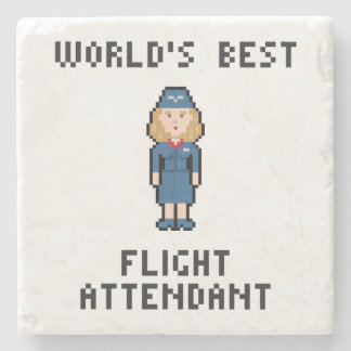 World's Best Flight Attendant Stone Coaster
