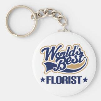 Worlds Best Florist Keychain