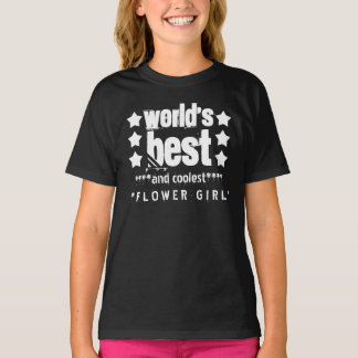 World's Best FLOWER GIRL with STARS A06 T-Shirt